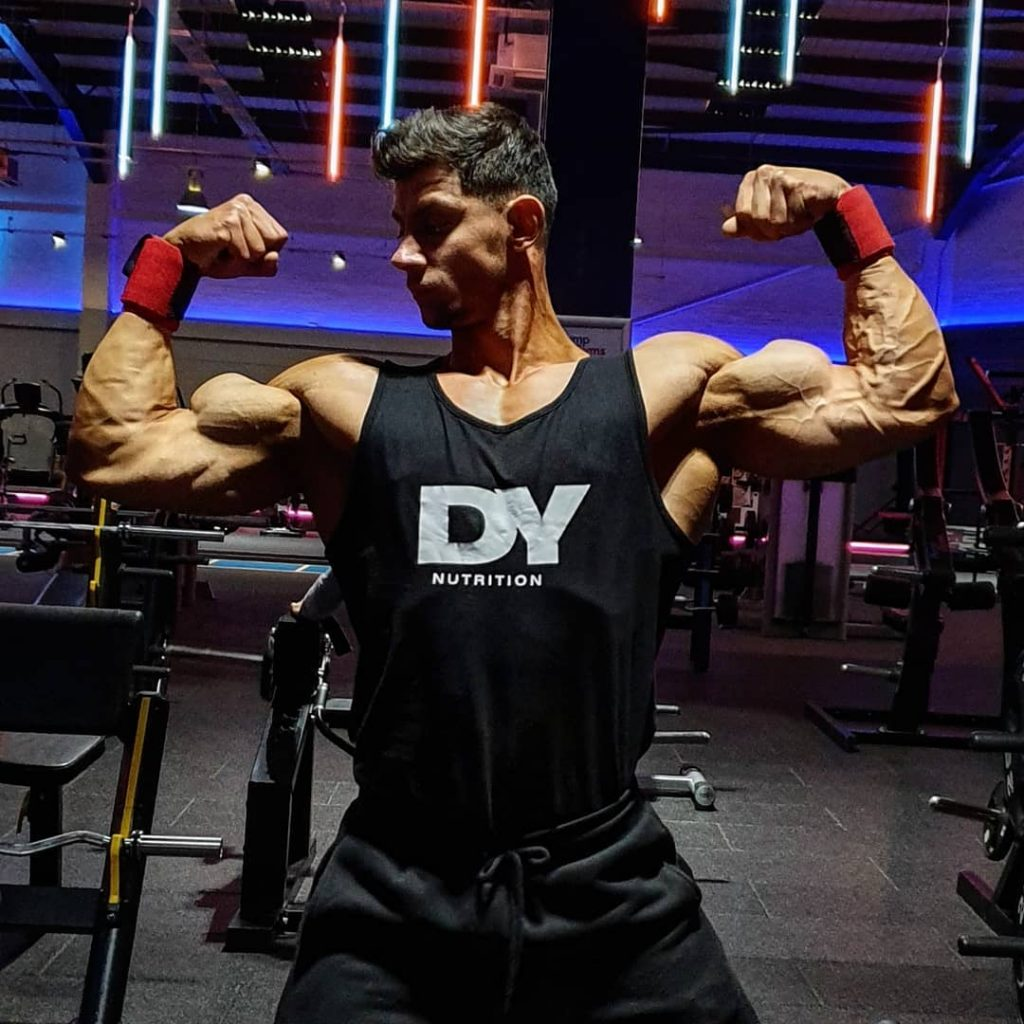 In this picture you can see Mateas Giuliano after using Whey Protein from DY Nutrition