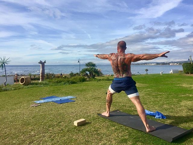 Dorian Yates practices Yoga in order to increase his flexibility and wellbeing.