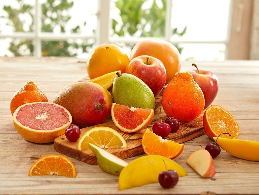 This image was used to show some of the fruits that can replace the traditional holiday snacks.